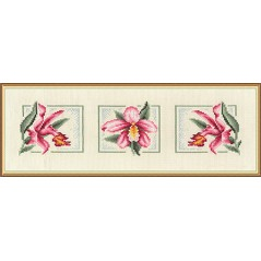 Counted Cross Stitch Kit Orchids C-0836