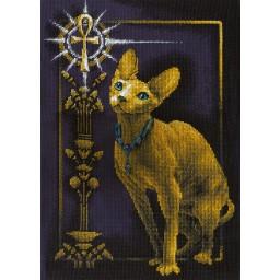 Cross Stitch Kit Golden Series K-0897 Egyptian Cat