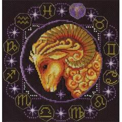 Cross Stitch Kit Zodiac signs. Aries ZN-0922