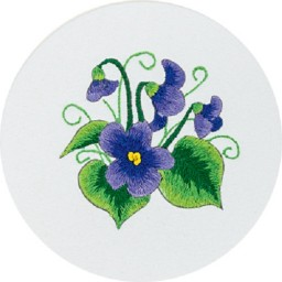 Embroidery Kit Wood Violet C-0945