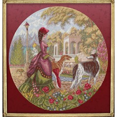 Cross Stitch Kit A Lady with Hounds IS-0972