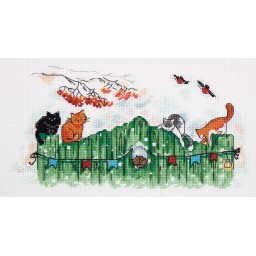 Cross Stitch Kit Curious Tails VK-7001