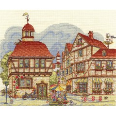 Cross Stitch Kit Prosperous Town GM-1027