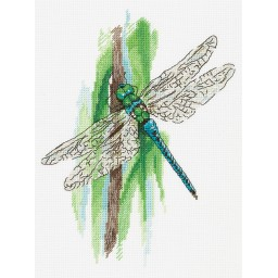 Cross Stitch Kit The Moments of Summer. Dragonfly PS-7091