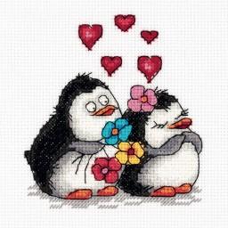 Cross Stitch Kit Penguins in Love art. 8-287