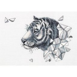 Cross Stitch Kit Geometry. Tiger J-7089