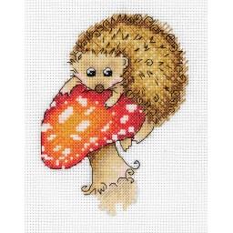 Cross Stitch Kit Hedgehog on a Toadstool art. 8-314
