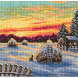 Cross Stitch Kit Winter Twilight PS-7121