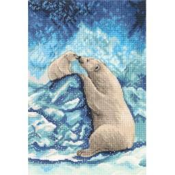Cross Stitch Kit Polar Bears J-7082