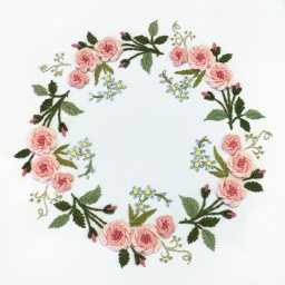 Embroidery Kit Rose Wreath JK-2140