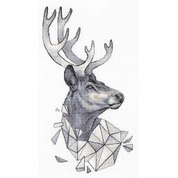 Cross Stitch Kit Geometry. Deer J-7128
