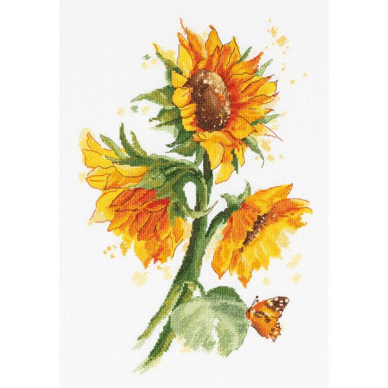 Cross Stitch Kit Bright Sunflowers C-7136