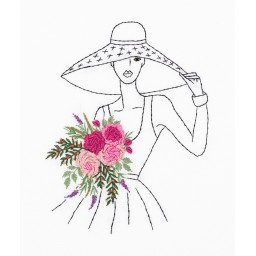 Embroidery Kit Living Picture Lady in a Hat JK-2171