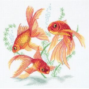 Cross Stitch Kit Goldfish R-7141