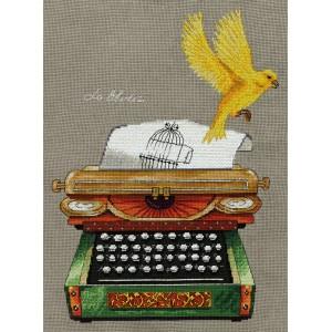 Cross Stitch Kit Living History. Typewriter RE-7049