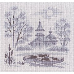 Cross Stitch Kit A Mist over the River PS-1057