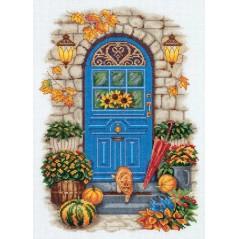 Cross Stitch Kit Autumn at the Door GM-7105