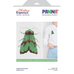 Embroidery Kit Green Moth JK-2179