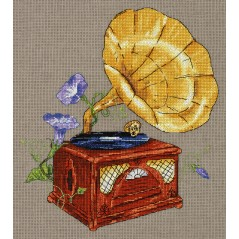 Cross Stitch Kit Garden Tune. Gramophone RE-7162