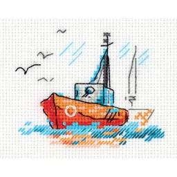 Cross Stitch Kit Sketches. On Waves art. 8-385