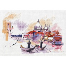 Cross Stitch Kit Traveling around Venice GM-7184