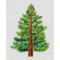 Embroidery Kit Living Picture Christmas Tree JK-2190