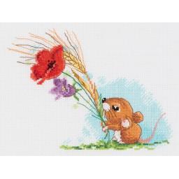 Cross Stitch Kit Harvest Mouse art. 8-409