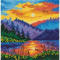 Cross Stitch Kit Sunset on the Lake art. 8-406