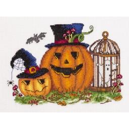Cross Stitch Kit Scary Pumpkins art. 8-420