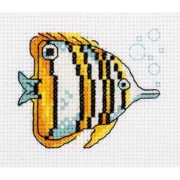 Cross Stitch Kit Copperband Butterflyfish art. 8-459