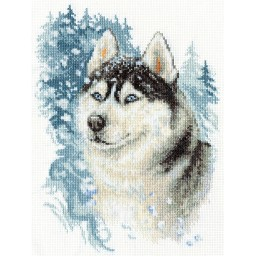 Cross Stitch Kit Loyal Husky J-1156