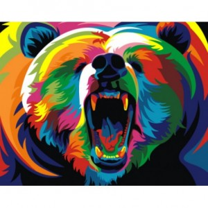 PAINTING BY NUMBERS RAINBOW BEAR A4 TA40109