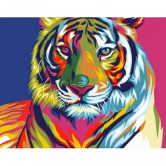 PAINT BY NUMBERS KIT RAINBOW TIGER T16130010