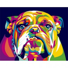 PAINT BY NUMBERS KIT ENGLISH BULLDOG  T16130016  16.5 x 13 cm