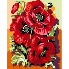 PAINT BY NUMBERS KIT KING POPPIES T16130025