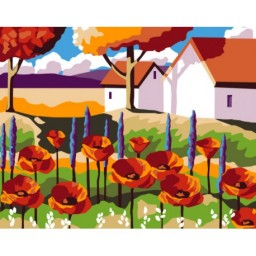 PAINT BY NUMBERS KIT GARDEN WITH POPPIES T16130029