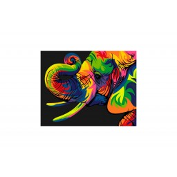 PAINT BY NUMBERS KIT RAINBOW ELEPHANT T16130032