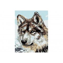 PAINT BY NUMBERS KIT GREY WOLF T16130036