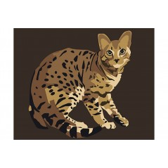 PAINT BY NUMBERS KIT BENGAL CAT T16130064
