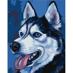 PAINTING BY NUMBERS HUSKY T16130072