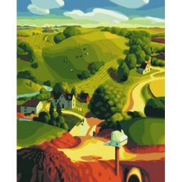 PAINT BY NUMBERS KIT FARM 40X50 CM A039