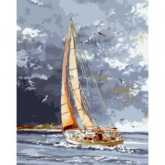 PAINT BY NUMBERS KIT FAVOURABLE WIND 40X50 CM A041 Framed