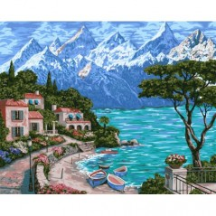 PAINT BY NUMBERS KIT MOUNTAIN FRESHNESS 40X50 CM A085 Framed