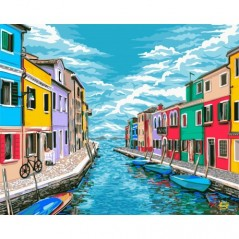 PAINT BY NUMBERS KIT VENICE ROADS 40X50 CM A086 Framed
