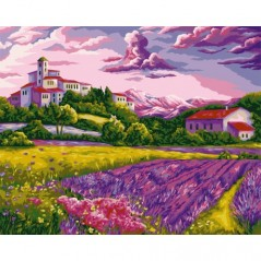 PAINT BY NUMBERS KIT WARM EVENING IN PROVENCE 40X50 CM A094 Framed