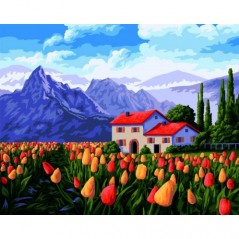 PAINT BY NUMBERS KIT HOLLAND 40X50 CM A095 Framed