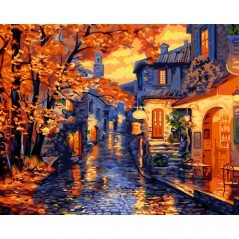 PAINT BY NUMBERS KIT OLD MUNICH 40X50 CM A107