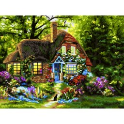 PAINT BY NUMBERS KIT FAIRYTALE HOUSE 40X50 CM A121 Pre-order