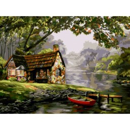 PAINT BY NUMBERS KIT QUIET WATERS 40X50 CM A130T Pre-order
