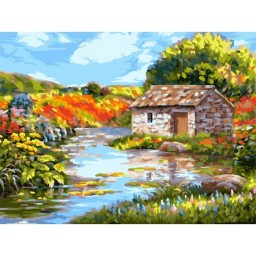 PAINT BY NUMBERS KIT PICTURESQUE RIVER 40X50 CM A134 Pre-order